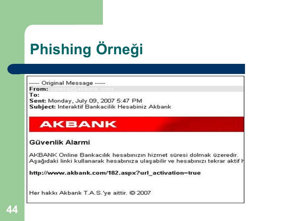 44 Phishing Örneği