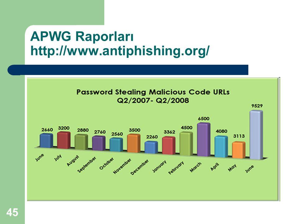 45 APWG Raporları http://www.antiphishing.org/