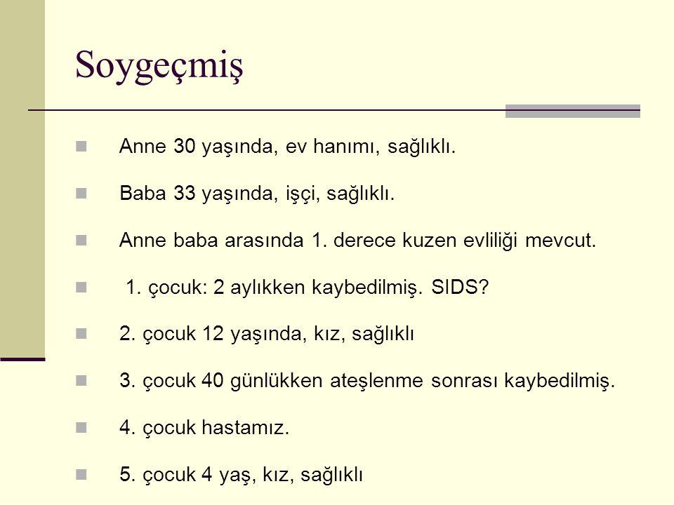 Fizik Muayene Tartı: 25 kg (p) Boy : 125 cm (10-25.