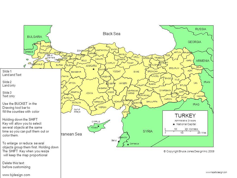 wwwmapsfordesign.com Gulf of Antalya Sea of Marmara KONYA KARAMAN ISPARTA ANTALYA MUGLA BURDUR DENIZLI USAK AFYON AYDIN MANISA IZMIR MERSIN Nicosia AD