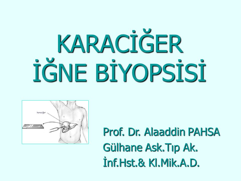  Karaciğerden ilk doku aspirasyonu 1883 yılında Erlich tarafından yapılmıştır yılında Erlich tarafından yapılmıştır  Tanısal amaçla yapılan ilk karaciğer biyopsisi ise 1923 yılında bildirilmiştir ise 1923 yılında bildirilmiştir  Gerçekten de karaciğer biyopsisi çok etkili ve uygulanması kolay bir tanısal testtir ve uygulanması kolay bir tanısal testtir Teknoloji ile beraber hem biyopsi endikasyonları Teknoloji ile beraber hem biyopsi endikasyonları değişmiş hem de karaciğer biyopsi teknikleri değişmiş hem de karaciğer biyopsi teknikleri gelişmiştir gelişmiştir