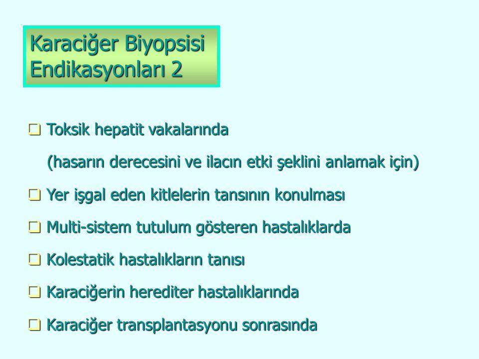Perkütan Karaciğer Biyopsisi İşlemin komplikasyon oranı biyopsiyi yapan kişinin tecrübesi ile orantılıdır.