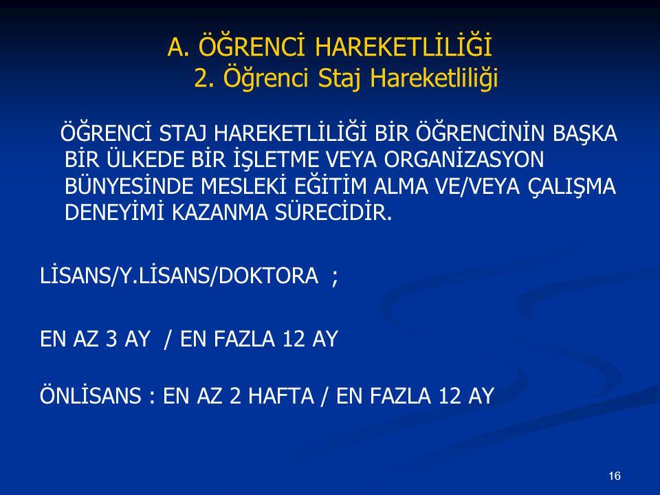 16 A.ÖĞRENCİ HAREKETLİLİĞİ 2.