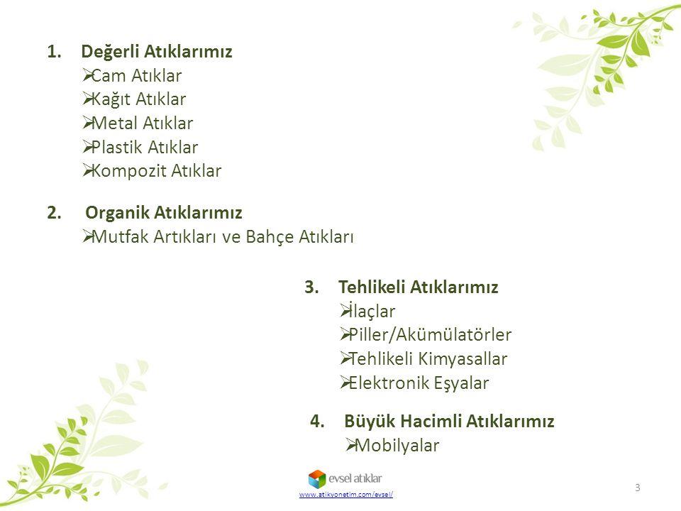DEĞERLİ ATIKLARIMIZ 4 www.atikyonetim.com/evsel/