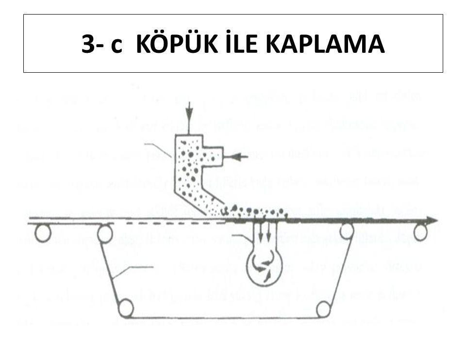 3- c KÖPÜK İLE KAPLAMA