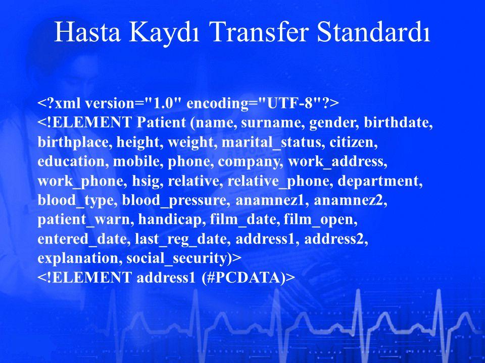 Hasta Kaydı Transfer Standardı