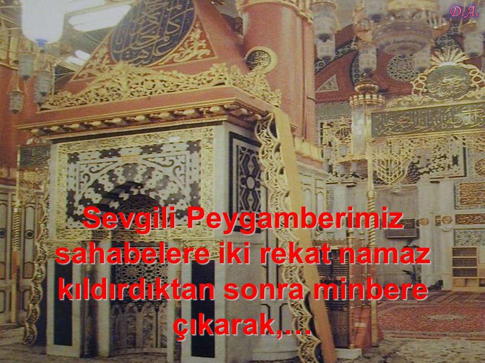 …birer birer camiye akın ederek her tarafı tıklım tıklım doldurdular…