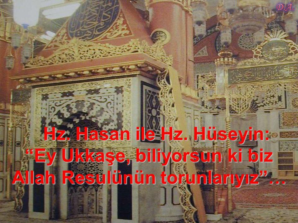 """Hz. Peygamber O'na da: """"Ey Ali, Yüce Allah senin de bu iyi niyetini mükafatsız bırakmayacaktır, otur"""" dedi."""