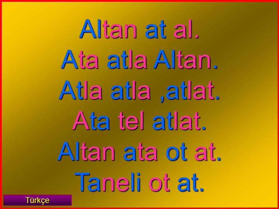 tan Türkçe Al