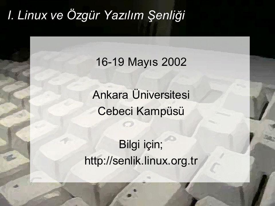 Temel Linux Sunucusu Kurulumu Seminer Sonu Katılımcılılarımıza teşekkür ederim Kerem ERZURUMLU kerem@linux.org.tr http://www.penguen.net