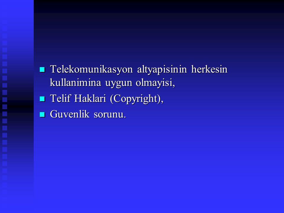 Telekomunikasyon altyapisinin herkesin kullanimina uygun olmayisi, Telekomunikasyon altyapisinin herkesin kullanimina uygun olmayisi, Telif Haklari (C