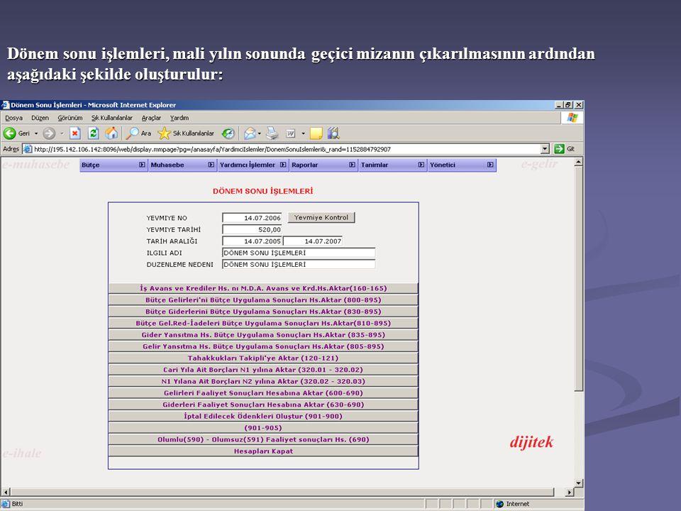 Mali yılın başında muhasebe kayıtlarının açılmasını sağlamak üzere bilançoda yer alan hesapların açılış kaydı aşağıdaki örnekte olduğu gibi yapılarak dönem başlatılır.