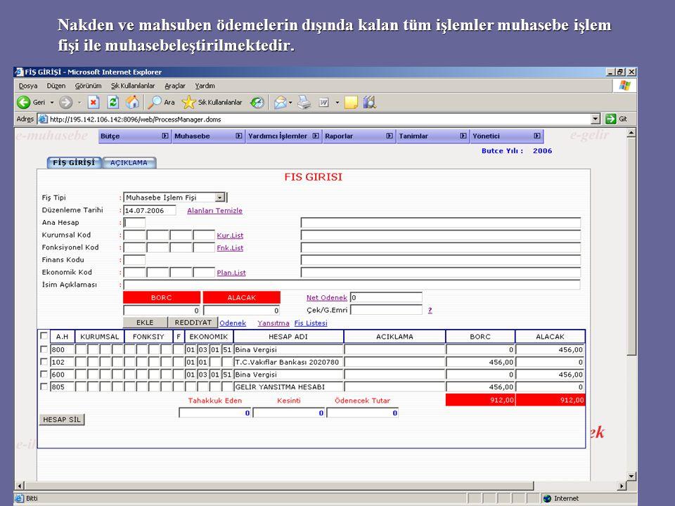 Düzenlenen tüm fişler fiş listesinde görüntülenebilir ve buradan istenirse yazıcıya gönderilebilir.