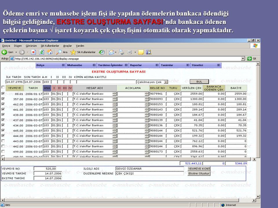 Aşağıdaki sayfa, gün içinde gelir servisi veznelerince tahsil edilen gelirlerin, gün sonunda kasadan alınarak bankaya gönderilmesi için düzenlenen teslimat müzekkersi örneğidir.