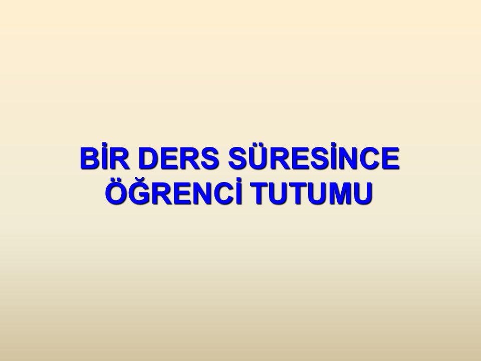 BİR DERS SÜRESİNCE ÖĞRENCİ TUTUMU