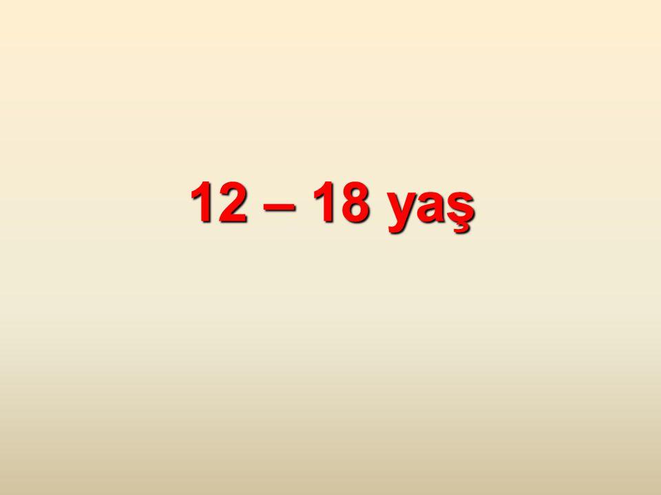 12 – 18 yaş