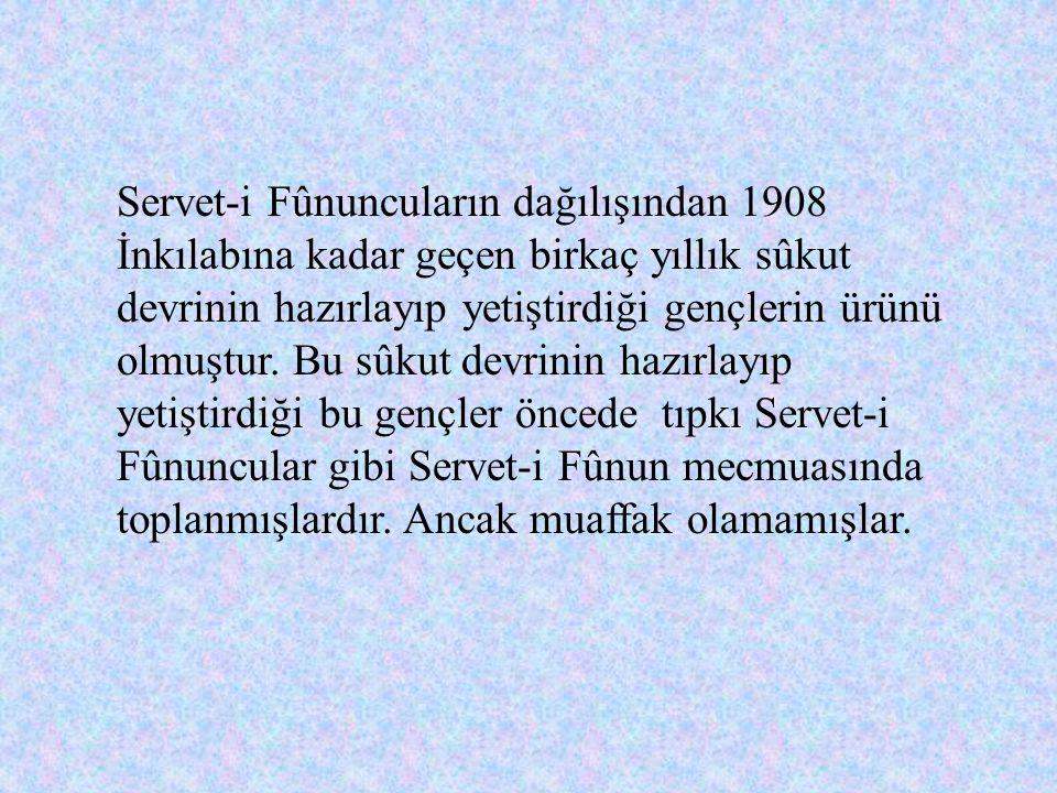 Fecr-i Âtî Edebiyatının Ortaya Çıkması Türkiye'de 1908 Meşrutiyet İnkılabı ardından yapılan ilk edebi hareket, Fecr-i Âtî toplantısıdır. Fecr-i Âtî ge