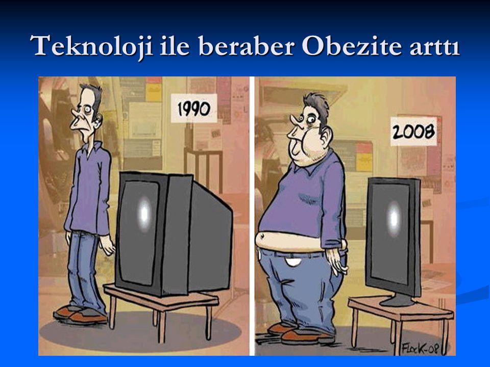 Teknoloji ile beraber Obezite arttı