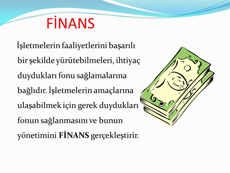 FON = PARA Fon : Nakit, vadesiz mevduat, nakde çevrilebilir değerler Para : Nakit ve bankadaki vadesiz mevduat