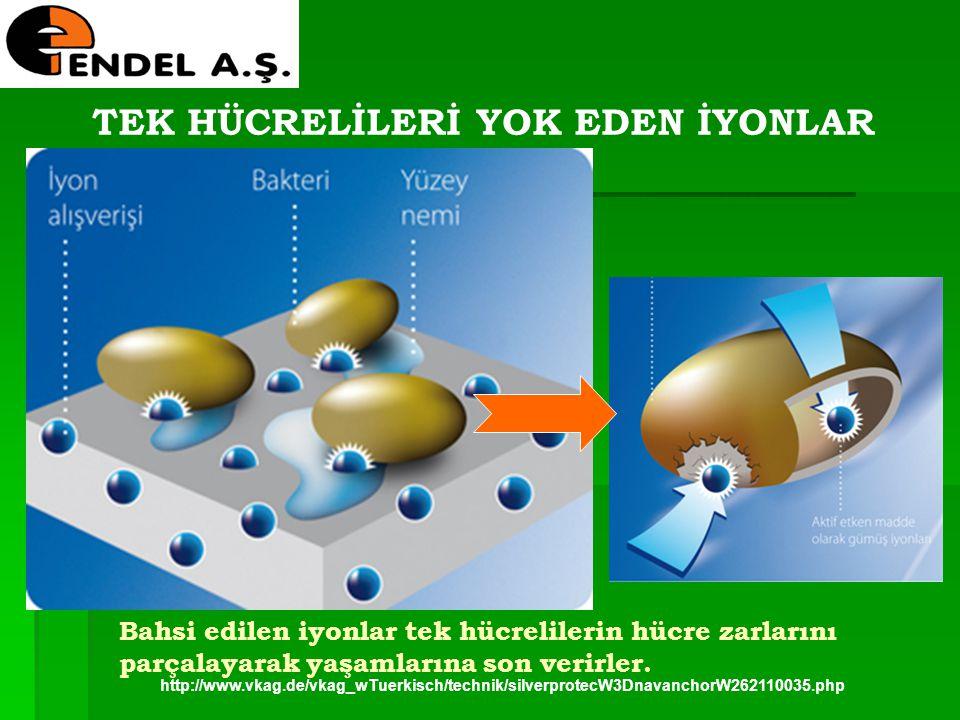 http://www.vkag.de/vkag_wTuerkisch/technik/silverprotecW3DnavanchorW262110035.php TEK HÜCRELİLERİ YOK EDEN İYONLAR Bahsi edilen iyonlar tek hücreliler