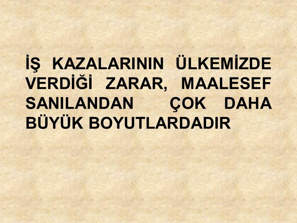 AŞAĞIDAKİ TABLO BU ACI GERÇEĞİ BÜTÜN BOYUTLARI İLE ORTAYA KOYMAKTADIR ( SSK-2006).