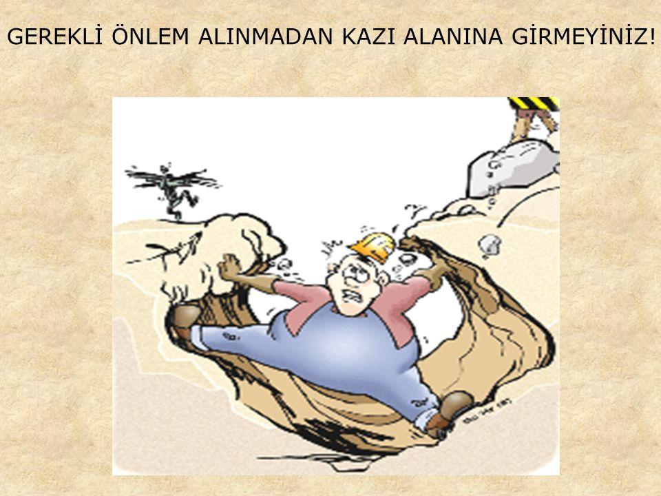 EMNİYET KEMERİ TAKMADAN KESİNLİKLE ÇALIŞMAYINIZ!