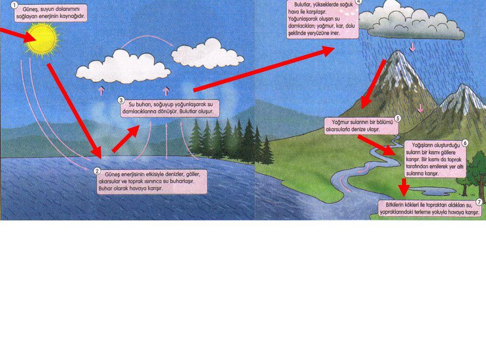 Su döngüsü sürekliliği olan bir olaydır. Doğada bu süreklilik için gerekli olan enerjiyi GÜNEŞ sağlar.