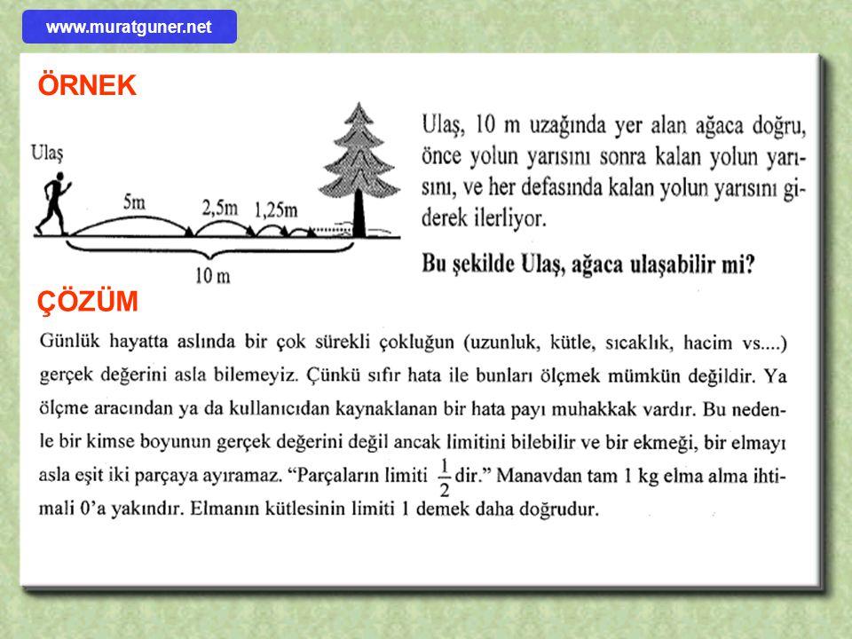 ÖRNEK ÇÖZÜM www.muratguner.net