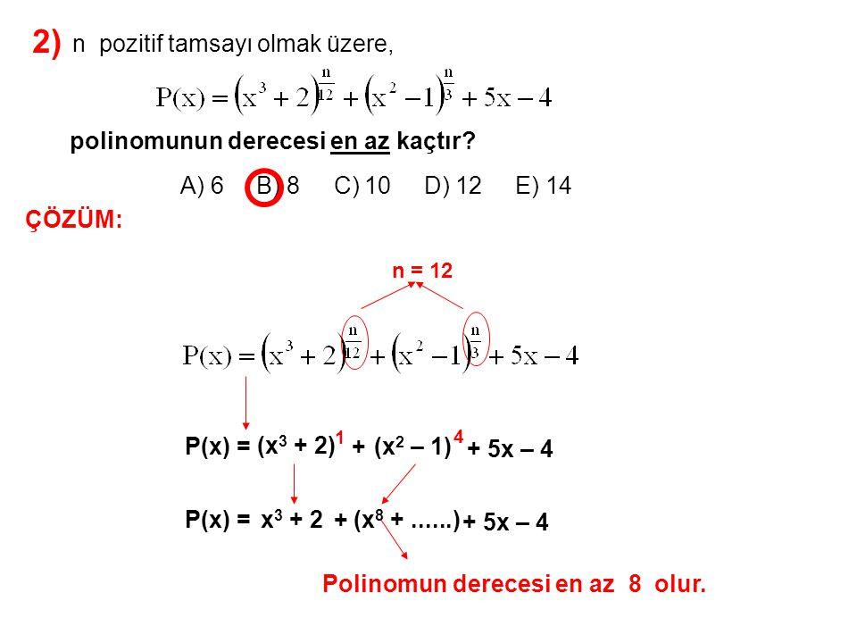 3) A) -19 B) -17 C) -16 D) -15 E) -14 olduğuna göre, P(x) = (a – 2)x 2 + 2x + b – 1 Q(x – 3) = dx 2 – 4x – 18 P(x) = Q(x) a + b + d toplamı kaçtır.