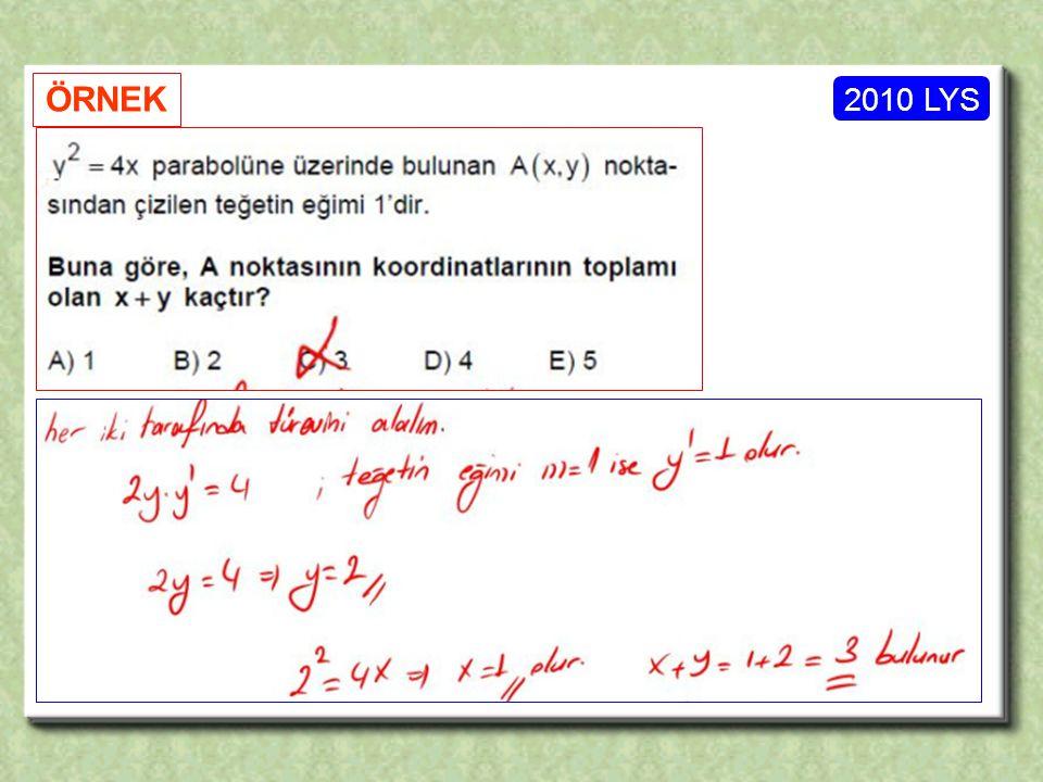2010 LYS ÖRNEK