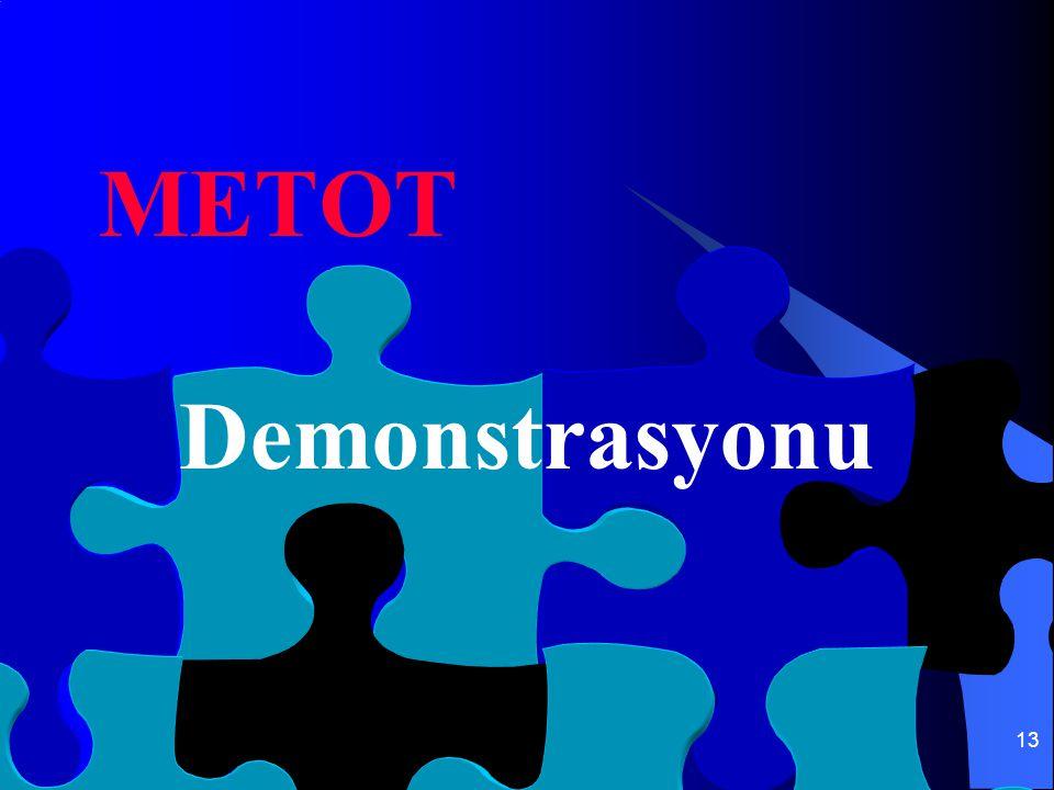 13 METOT Demonstrasyonu