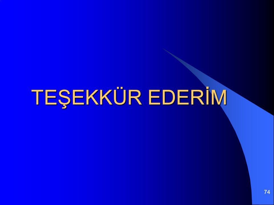 74 TEŞEKKÜR EDERİM