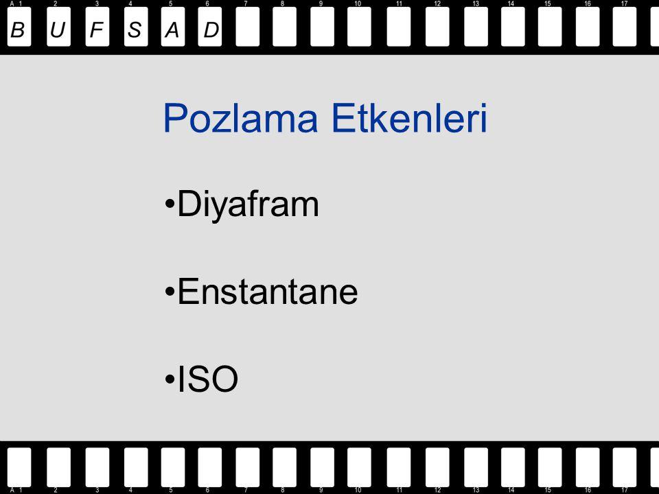Pozlama Etkenleri Diyafram Enstantane ISO