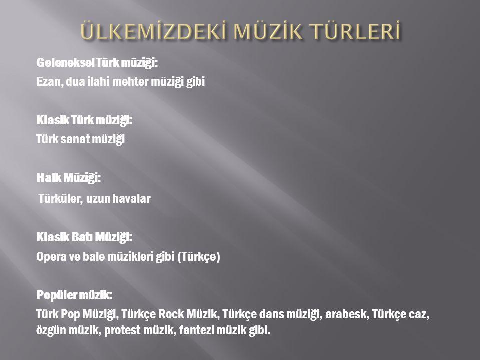 Türk halk müziği, Türkiye nin çeşitli yörelerinde farklı ağızlar ve formlarda söylenen Türkçe yöresel etnik müziklerin tümü.