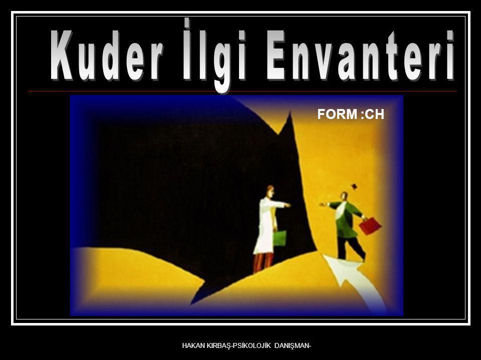 HAKAN KIRBAŞ-PSİKOLOJİK DANIŞMAN- FORM :CH