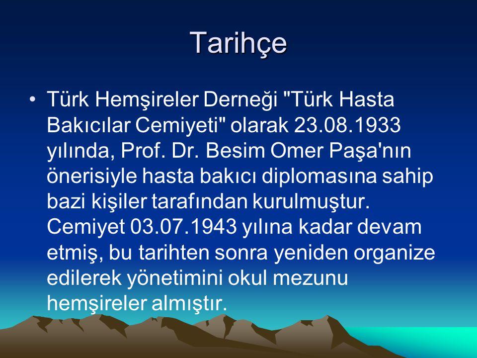 Tarihçe Türk Hemşireler Derneği