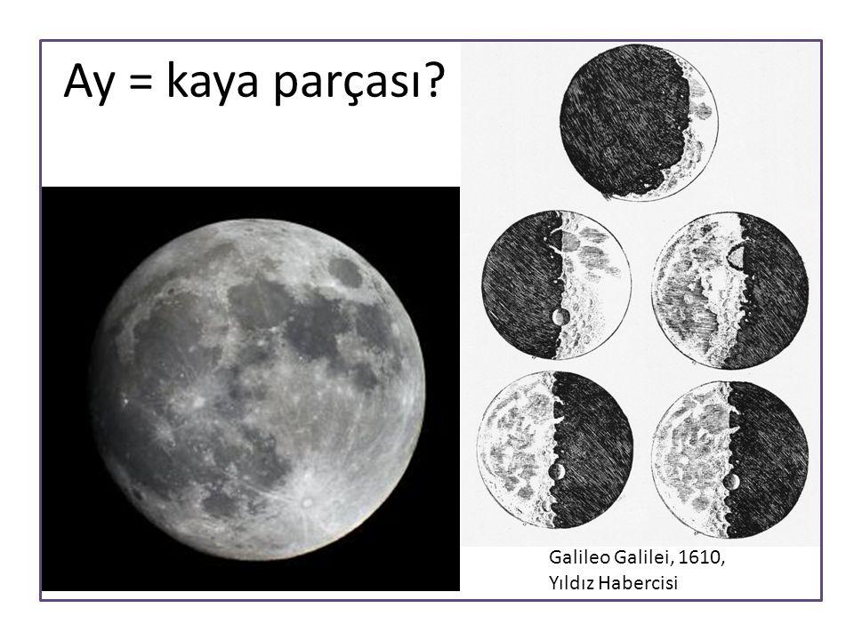 Ay = kaya parçası? Galileo Galilei, 1610, Yıldız Habercisi