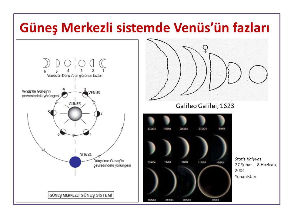Güneş Merkezli sistemde Venüs'ün fazları Statis Kalyvas 27 Şubat - 8 Haziran, 2004 Yunanistan Galileo Galilei, 1623