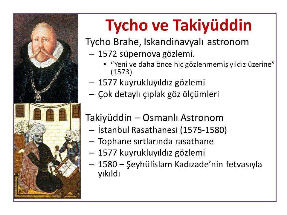 """Tycho ve Takiyüddin Tycho Brahe, İskandinavyalı astronom – 1572 süpernova gözlemi. """"Yeni ve daha önce hiç gözlenmemiş yıldız üzerine"""" (1573) – 1577 ku"""