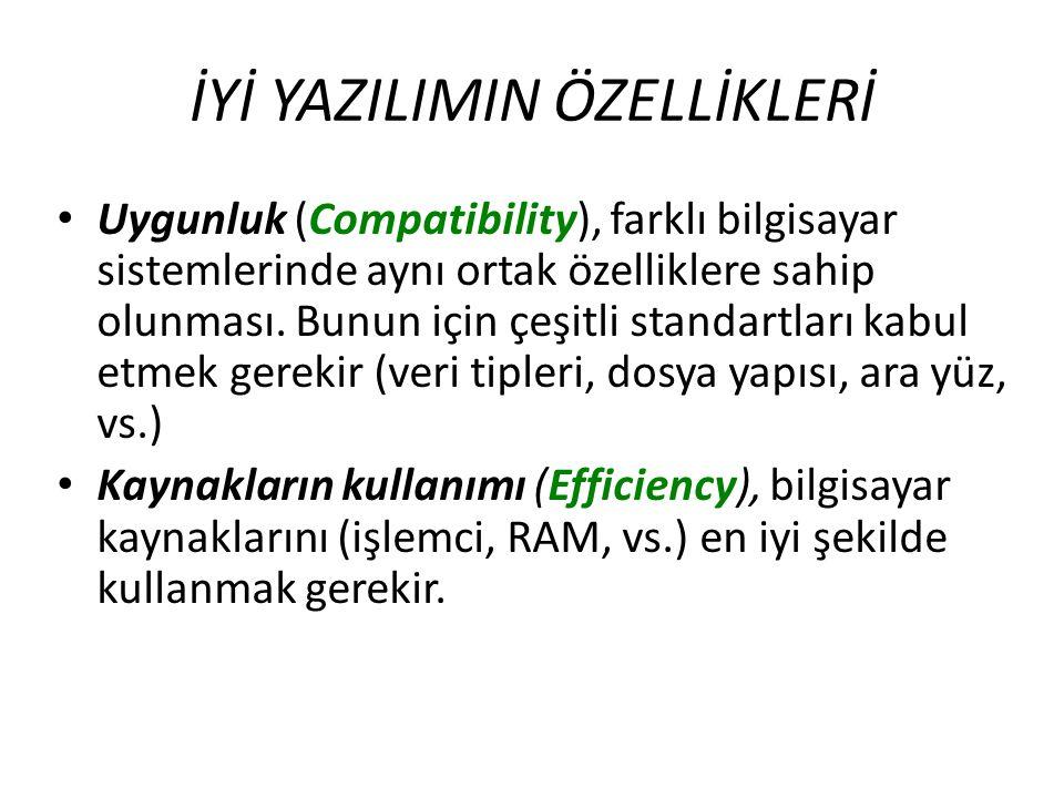 Uygunluk (Compatibility), farklı bilgisayar sistemlerinde aynı ortak özelliklere sahip olunması. Bunun için çeşitli standartları kabul etmek gerekir (