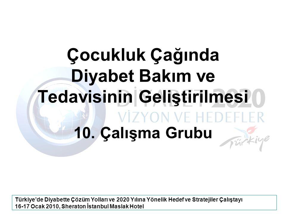 Türkiye'de Diyabette Çözüm Yolları ve 2020 Yılına Yönelik Hedef ve Stratejiler Çalıştayı 16-17 Ocak 2010, Sheraton İstanbul Maslak Hotel Çocukluk Çağı