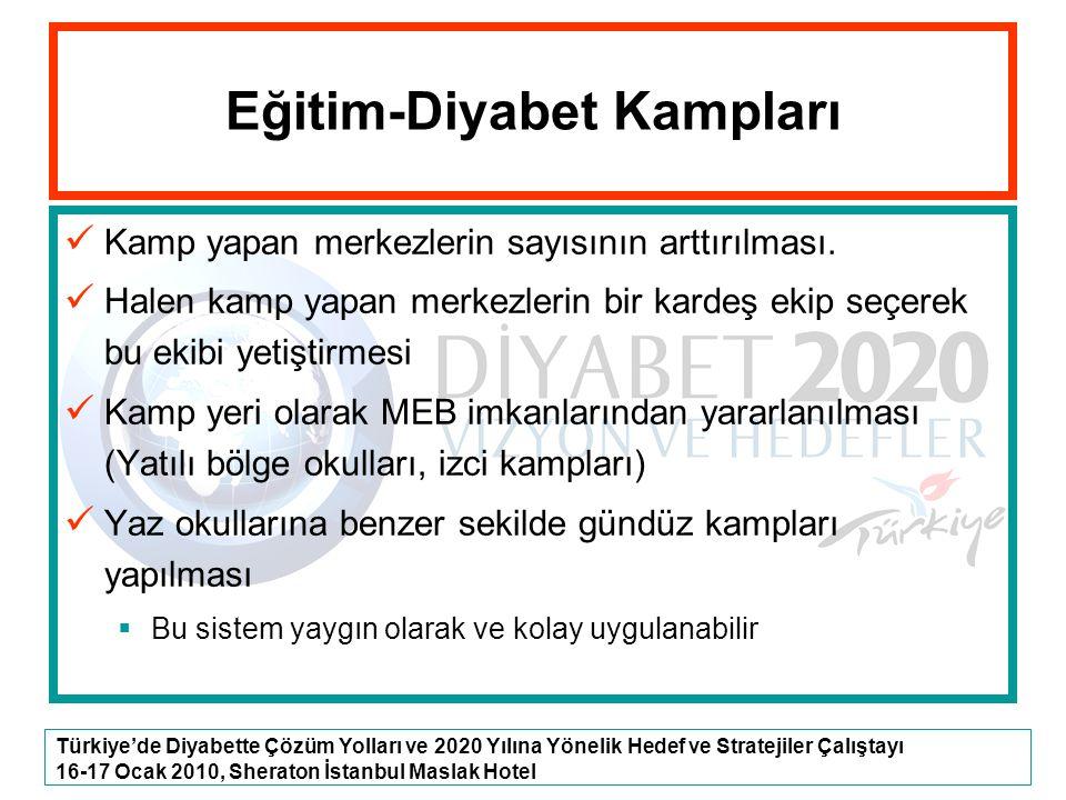 Türkiye'de Diyabette Çözüm Yolları ve 2020 Yılına Yönelik Hedef ve Stratejiler Çalıştayı 16-17 Ocak 2010, Sheraton İstanbul Maslak Hotel Eğitim-Diyabe