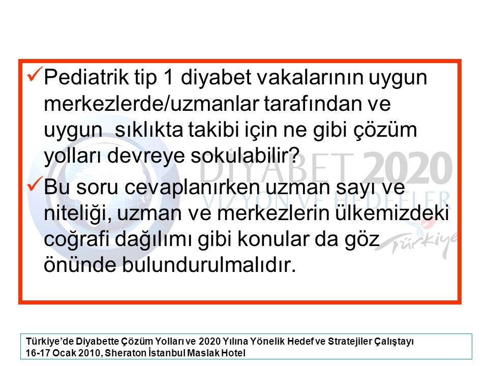 Türkiye'de Diyabette Çözüm Yolları ve 2020 Yılına Yönelik Hedef ve Stratejiler Çalıştayı 16-17 Ocak 2010, Sheraton İstanbul Maslak Hotel Pediatrik tip
