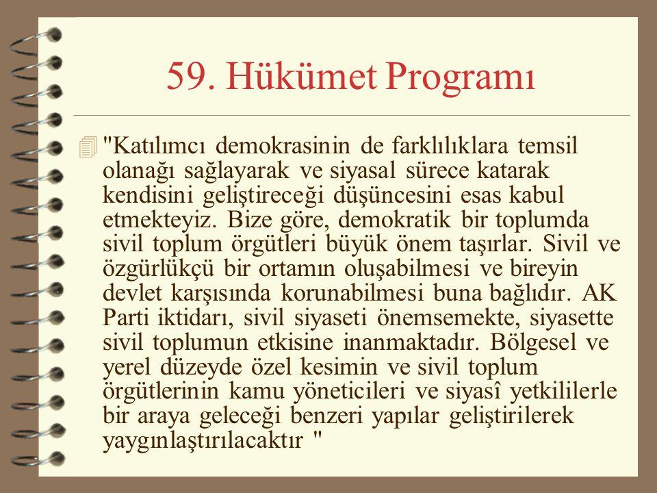 59. Hükümet Programı 4