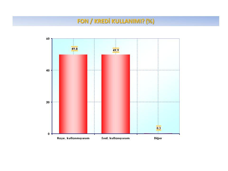 FON / KREDİ KULLANIMI? (%)