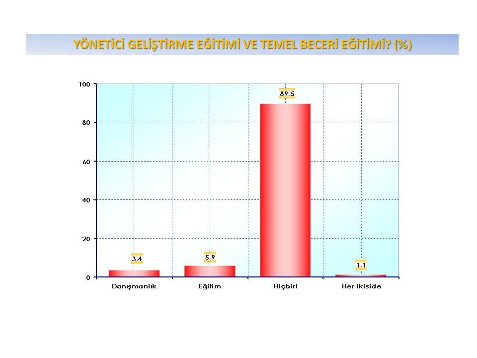 YÖNETİCİ GELİŞTİRME EĞİTİMİ VE TEMEL BECERİ EĞİTİMİ? (%)