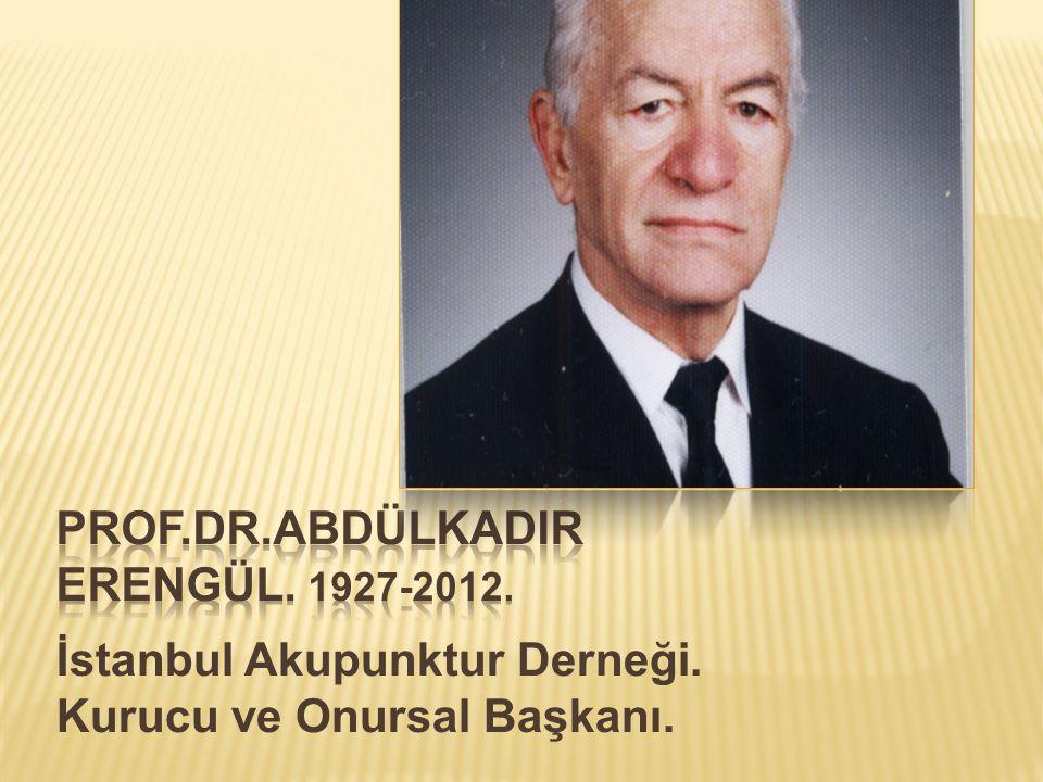 İstanbul Akupunktur Derneği. Kurucu ve Onursal Başkanı.