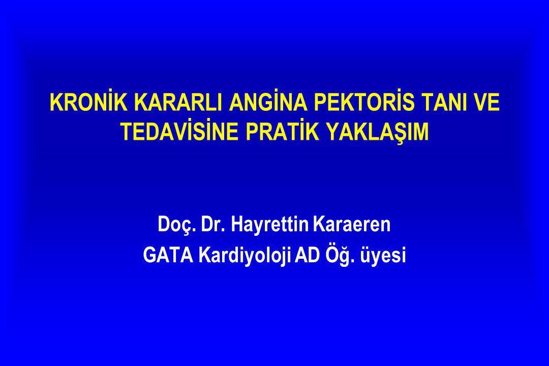 Hastaların tanı ve tedavi önerileri Klas I, II, III olarak sunulacaktır.