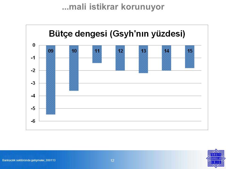 12...mali istikrar korunuyor Bankacılık sektöründe gelişmeler, 300113
