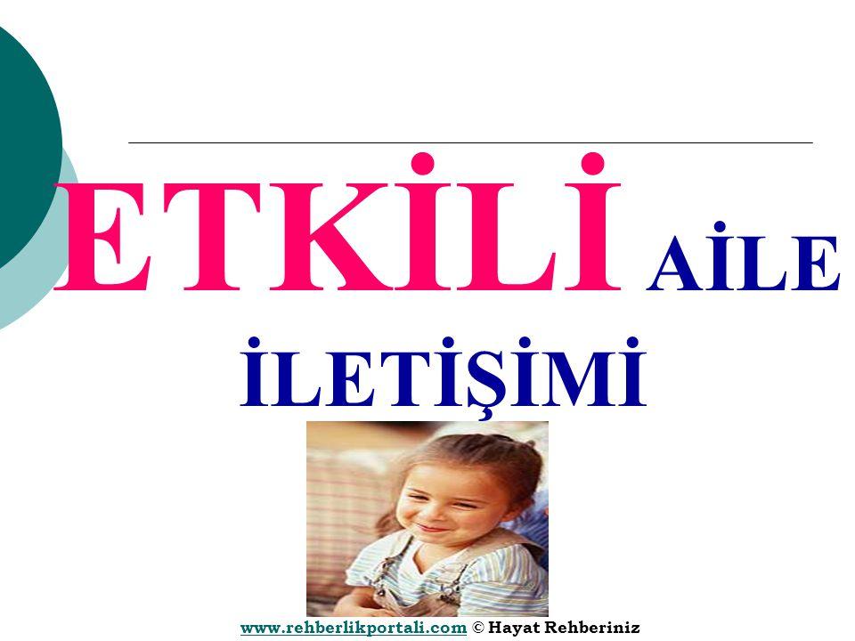 www.rehberlikportali.comwww.rehberlikportali.com © Hayat Rehberiniz ETKİLİ AİLE İLETİŞİMİ